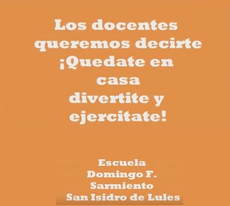 Buenas Prácticas: Docentes se suman al desafío – Esc. Sarmiento de Lules