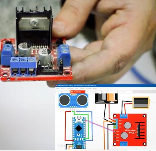 Rociador automático controlado por Arduino y sensor de ultrasonido