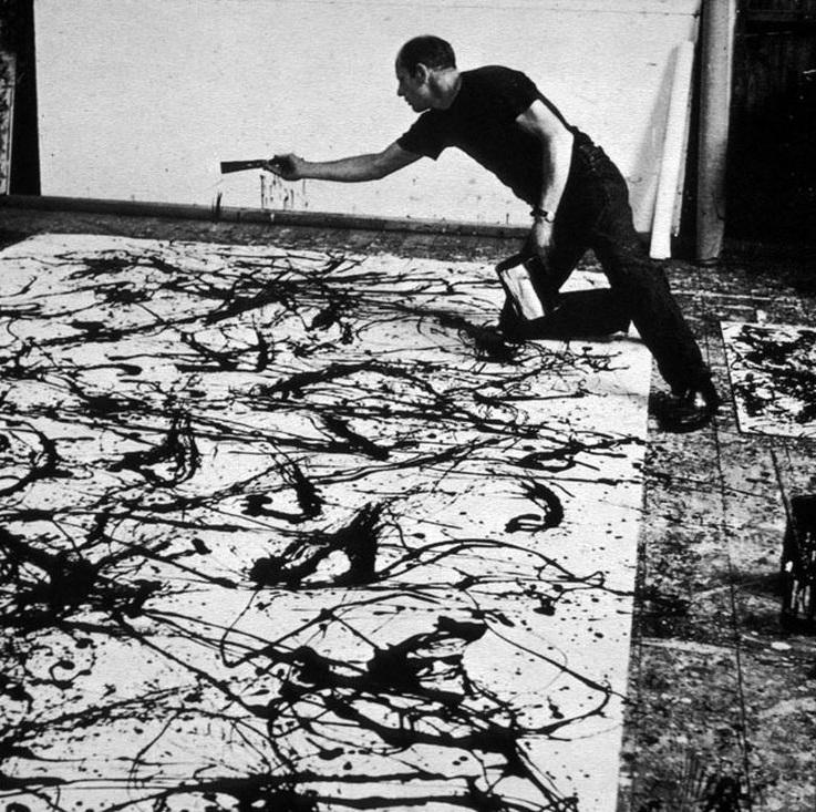 Todos somos pintores de la mano de Jackson Pollock